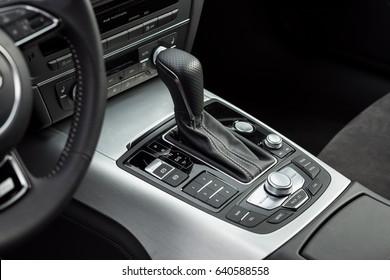 Vinnitsa, Ukraine - May 14, 2017. Audi A6 concept car - interior