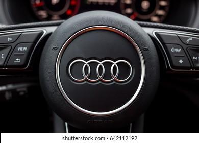 Vinnitsa, Ukraine - May 14, 2017. Audi Q2 concept car - interior