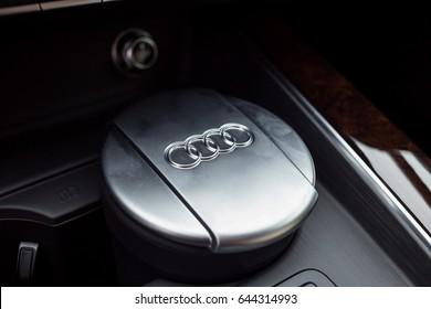 Vinnitsa, Ukraine - May 14, 2017. Audi A5 Sportback car - interior
