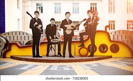 Vinnitsa, Ukraine September 17, 2017. Monument to The Beatles