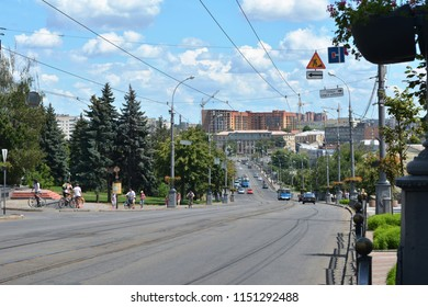Vinnytsia, Ukraine - July 08, 2018 : : Central street of Vinnytsia, Ukraine