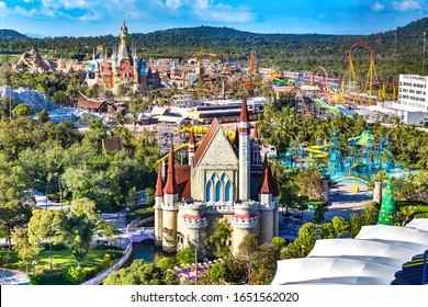 Vinpearl Land, Phu Quoc, Vietnam - Jan 25th 2019: Vinpearl Land Amusement Park Phu Quoc Island, the Largest and Most Modern Recreational Theme Park in Southwest Vietnam.