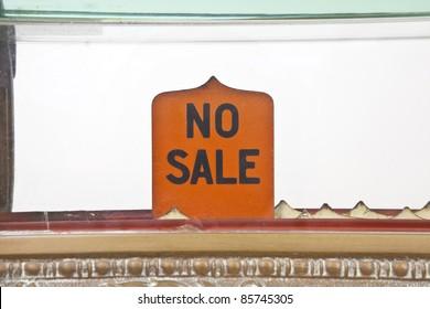 """Vintage 1920's cash register """"no sale"""" pop up sign."""