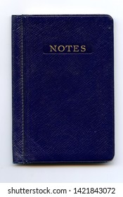 Vintage 1939 blue leather-covered notebook