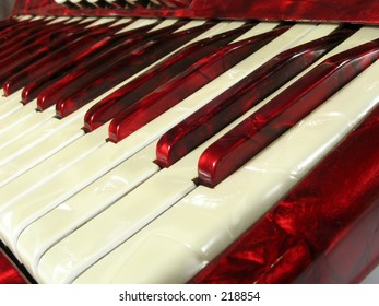 vintage 1950's era accordion keyboard