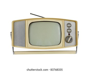 Vintage 1960's Portable Television with Handle Stand