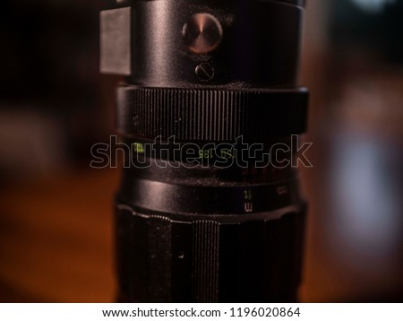 Vintage 35 Mm Telephoto Lens On Stock Photo (Edit Now) 1196020864