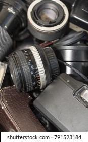 Vintage 35mm Film Camera Lenses