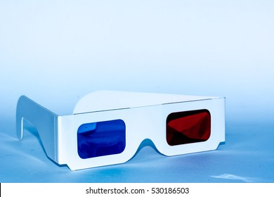 Vintage 3D glasses isolated