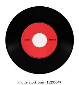 Vintage 45 RPM stereo vinyl record