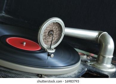 Vintage 78 RPM Victrola Record Player
