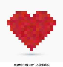 Vintage 8-bit love concept background illustration