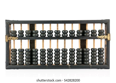 vintage abacus isolated on white background, concept for calculation or accounting