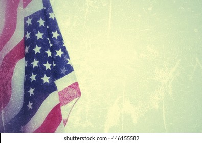 Vintage abstract wallpaper of USA flag