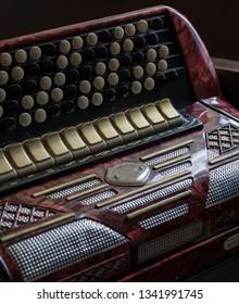 vintage accordion keys