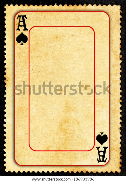 Vintage Ace Symbol Gaming Card On Stock Photo (Edit Now