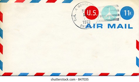 Vintage Air Mail Envelope from 1972 with Alaska cancellation