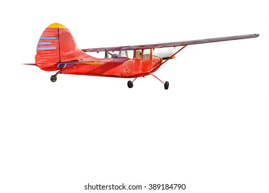 vintage aircraft isolated on white background. This has clipping path.