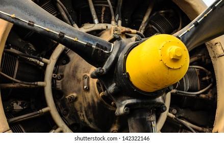 Vintage airplane engine