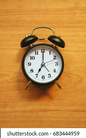 Vintage alarm clock, classic style clock face for time and wake up concept