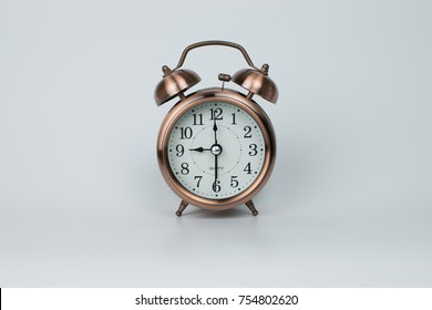 Vintage alarm clock on white background. very nice to use for graphic design.