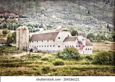 Vintage american barn, Park City, Utah