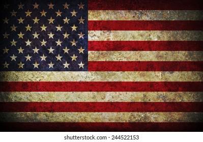 Damaged American Flag Background Stock Photo Royalty Free 73268047
