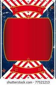 Vintage american leaflet. A large frame on a vintage American background