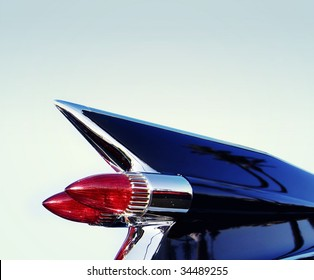 Vintage Americana classic retro 50's chrome car tail fin