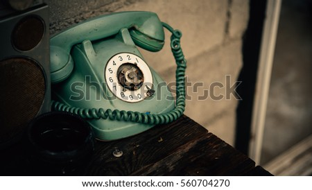 Vintage Antique Decoration Old Classic Telephone Stock Photo Edit