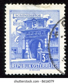 Vintage antique postage stamp from Austria