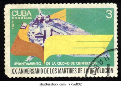 Vintage antique postage stamp from cuba