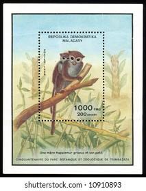 Vintage antique postage stamps from Madagascar