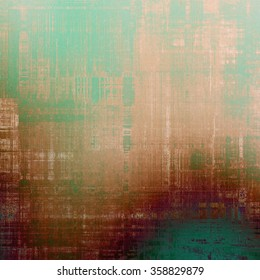 Vintage antique textured background. With different color patterns: brown; green; cyan; purple (violet)