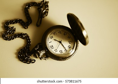 Vintage antique watch on a chain