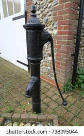 Vintage antique water pump stand pipe. Black .UK