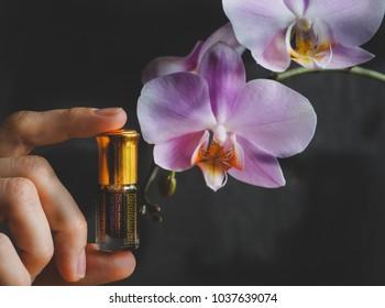 Vintage Arabic perfume in mini bottle. Attar oil.