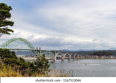 Vintage Arch bridge along the Oregon Coast.