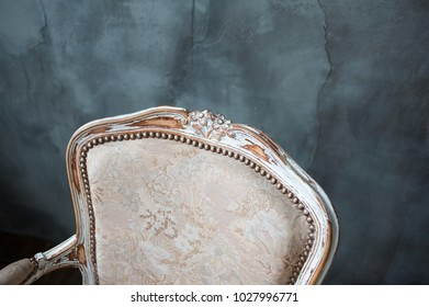 Vintage armchair in the interior