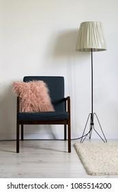 Vintage armchair in minimal interior