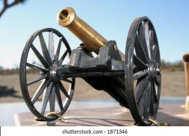 vintage artillery piece