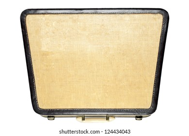 Vintage attache case isolated on a white background