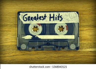 Vintage audio cassette tape with the description: Greatest Hits