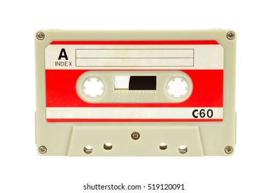 Vintage audio tape isolated on white background with clipping path