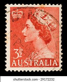 Vintage Australian postage stamp