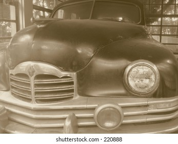 A vintage automobile from about sixty years ago