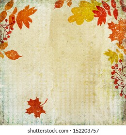 vintage autumn background