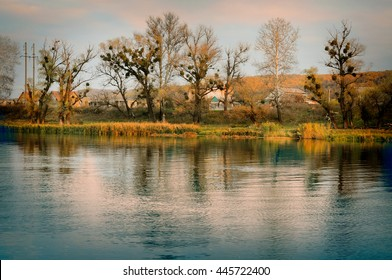 Vintage autumn landscape