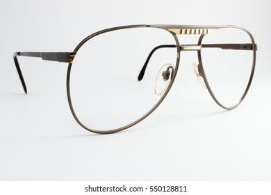 vintage aviator metal glasses