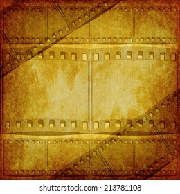 Vintage background with film flame , background texture for your message